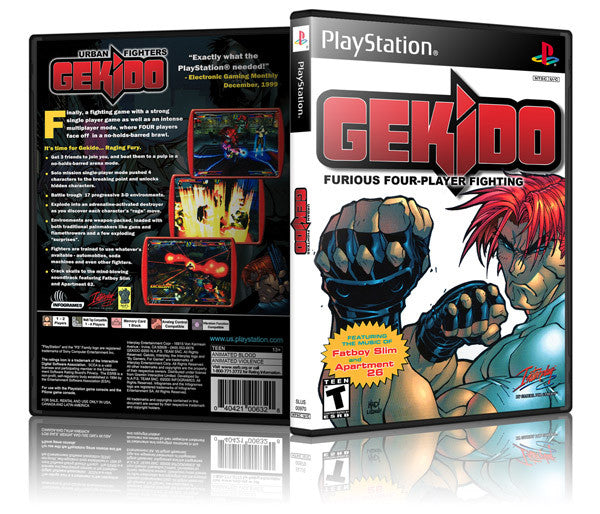Gekido Game Cover To Fit A PS1 PLAYSTATION Style Replacement Game Case