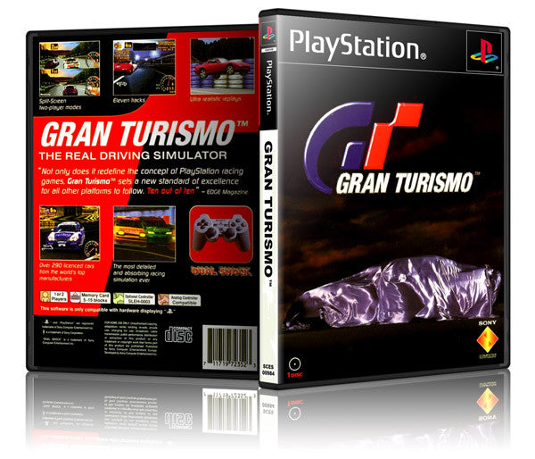 Gran Turismo Game Cover To Fit A PS1 PLAYSTATION Style Replacement Game Case 3