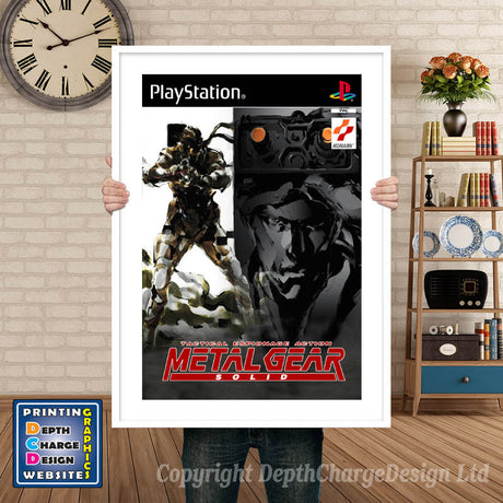 Metal Gear Solid GB - PS1 Inspired Retro Gaming Poster A4 A3 A2 Or A1