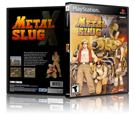 Metal Slug Game Cover To Fit A PS1 PLAYSTATION Style Replacement Game Case 2
