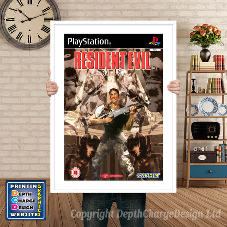 Resident Evil GB - PS1 Inspired Retro Gaming Poster A4 A3 A2 Or A1