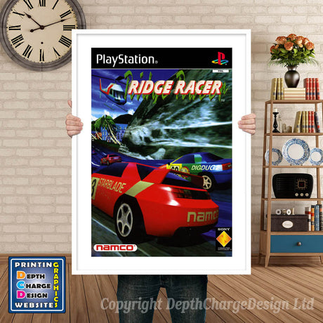 Ridge Racer 2 Eu - PS1 Inspired Retro Gaming Poster A4 A3 A2 Or A1