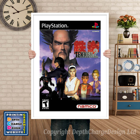Tekken 2 - PS1 Inspired Retro Gaming Poster A4 A3 A2 Or A1