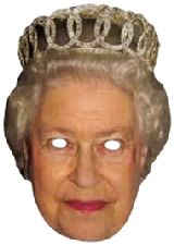QUEEN Party mask JB - Royal Fancy Dress Cardboard Celebrity Party mask