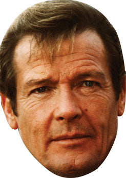Roger Moore BOND Face Mask FANCY DRESS HEN BIRTHDAY PARTY FUN STAG DO HEN