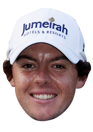 Rory Mcilroy GOLF 2018 Celebrity Face Mask FANCY DRESS HEN BIRTHDAY PARTY FUN STAG DO HEN