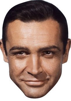Sean Connery James Bond Face Mask FANCY DRESS HEN BIRTHDAY PARTY FUN STAG DO HEN