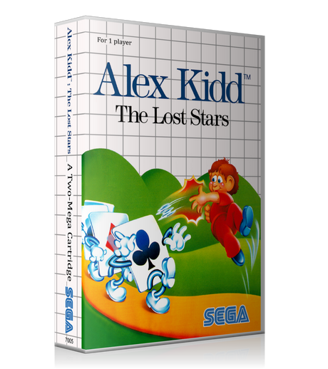 Alex Kidd The Lost Stars AU Sega Master System REPLACEMENT GAME Case Or Cover