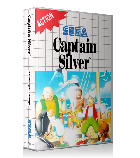 Captain Silver EU Sega Master System REPLACEMENT GAME Case Or Cover