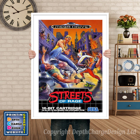 Streets Of Rage 3 Eu - Sega Megadrive Inspired Retro Gaming Poster A4 A3 A2 Or A1
