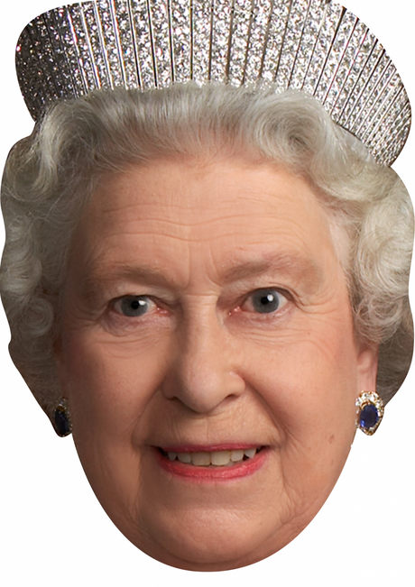 SPECIAL OFFER The Queen Birthday Celebrity Face Mask FANCY DRESS HEN BIRTHDAY PARTY FUN STAG DO HEN ONLY  £1