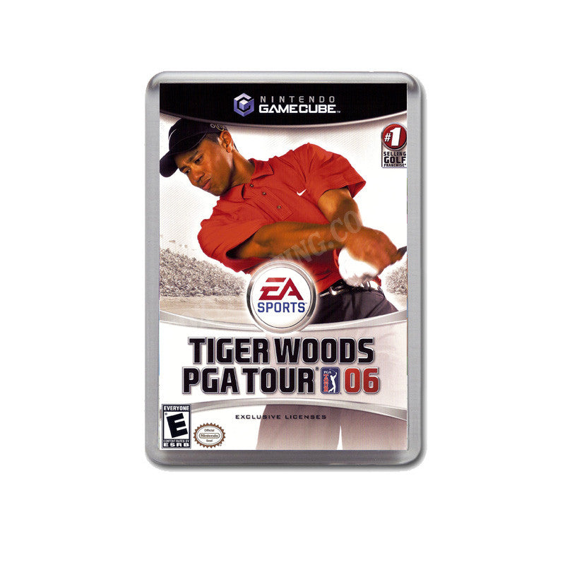 Tiger Woods Pga Tour06 Style Inspired Game Gamecube Retro Video Gaming  Magnet
