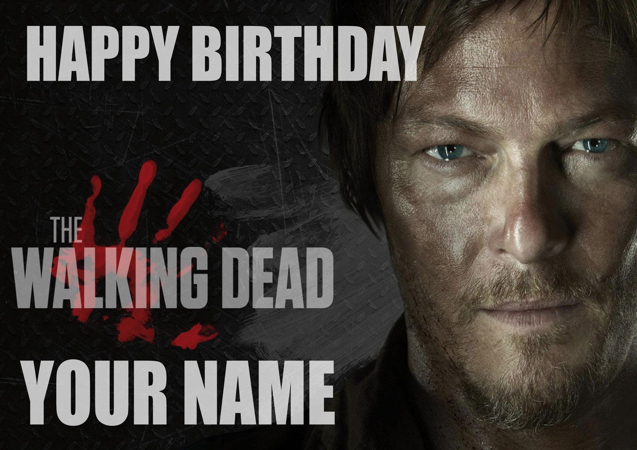 Walking dead birthday card foxy printing personalised prints walking dead birthday card m4hsunfo