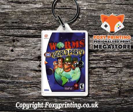 Wormsworldparty - Sega Dreamcast Game Keyring