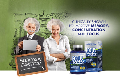 Clinically shown to improve memory, concentration and focus*