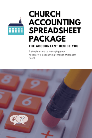Digital File Church Accounting Spreadsheet Package with 5 Fund General Ledger