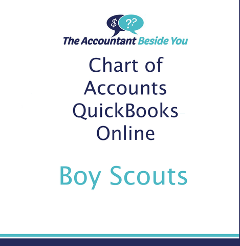 Chart of Accounts For QuickBooks Online Boy Scout Troop Chart of Accounts for QuickBooks