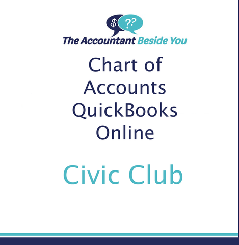 Chart of Accounts For QuickBooks Online Chart of Accounts for a Club