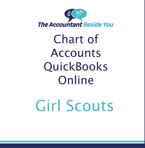Chart of Accounts For QuickBooks Online Girl Scout Troop Chart of Accounts for Quickbooks