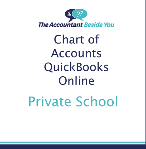 Chart of Accounts For QuickBooks Online Private School Chart of Accounts
