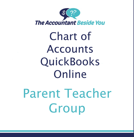 Chart of Accounts For QuickBooks Online PTA Chart of Accounts for QuickBooks
