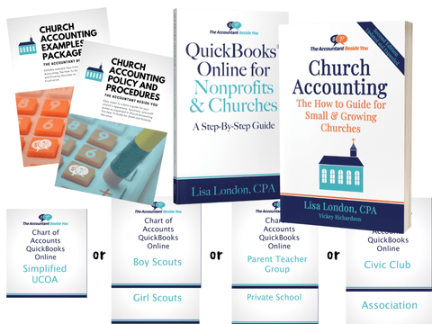Bundle Paperback / QB Online QuickBooks and Church Accounting Bundle-Save $10 when you buy both books and the related files.