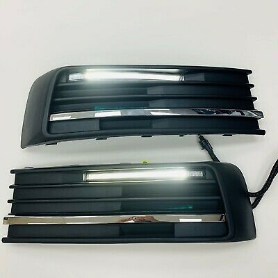 T6 DRL Kit With Chrome Styling Trim 3pcs For Lower Grilles Transporter 2015 Onwards