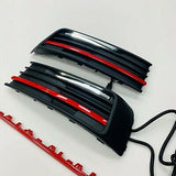 T6 DRL Kit With Red Styling Trim 3pcs For Lower Grilles Transporter 2015 Onwards