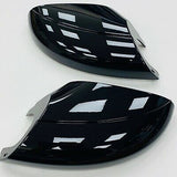 T5.1 T6 Gloss Black Mirror Covers Pair Underneath Mirror Cover Transporter 10 onwards