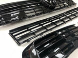 T6 Sportline Lower Spoiler, Gloss Black Splitter & Lower + Upper Grilles NEW