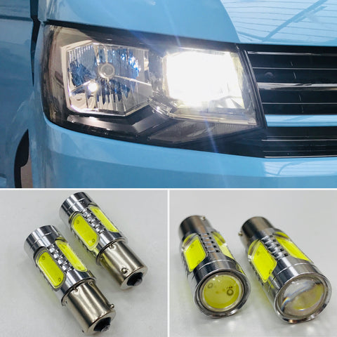 T6 LED DRL Headlight Upgrade Bulbs (super bright)