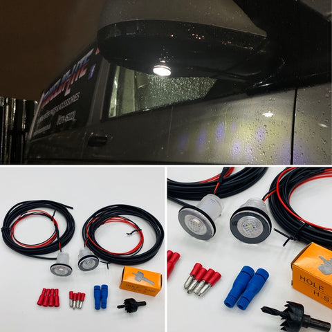 Amarok LED Mirror Courtesy Lights Upgrade Kit Transporter 2010 Onwards