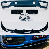 T5.1 Sportline Lower Spoiler Gloss Black Splitter & Led Fog Light Kit