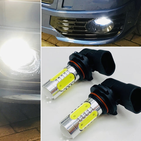 T5 T5.1 White LED Fog Light Bulbs HB4 9006