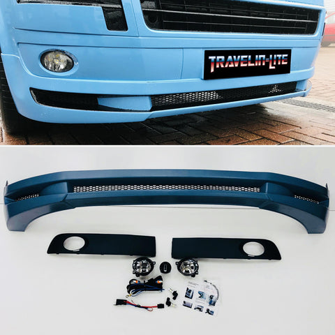 T5.1 Splitter ABT Style ABS Plastic & Fog Light Kit (mesh grille)