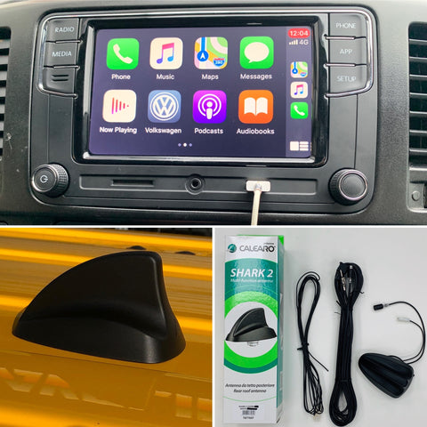 "VW T5.1 / Caddy Apple Car Play  RCD360 6.5"" Factory Fit & Shark Fin Aerial Transporter 10 - 15"