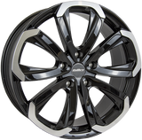 "CALIBRE HAVANA 20"" WHEEL & TYRE PACKAGE (BLACK/POLISHED)"