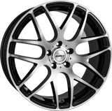 "CALIBRE EXILE-R 20"" WHEEL & TYRE PACKAGE (BLACK/POLISHED)"
