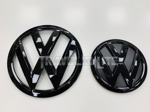 VW T6 badges front & rear gloss black