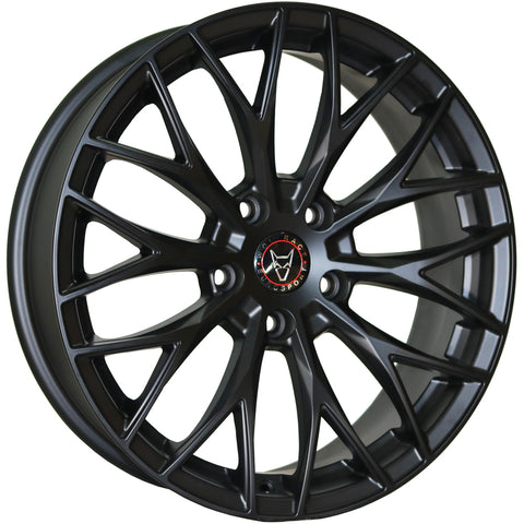 "Wolfrace Wolfsburg 18"" Wheel and Tyre Package Matte Black"