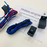 Universal Fog Light Wiring Kit & Red LED Square Switch