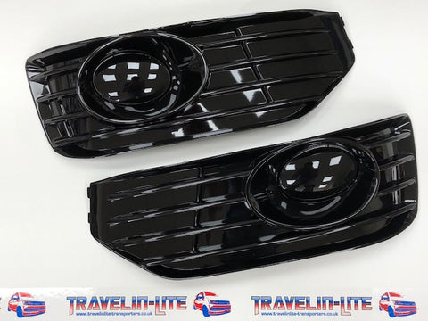T5 Sportline Fog Light Inserts (gloss black covers)