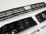 T6 Sportline Lower Spoiler, Gloss Black Splitter & Lower Radar Grilles Brand NEW