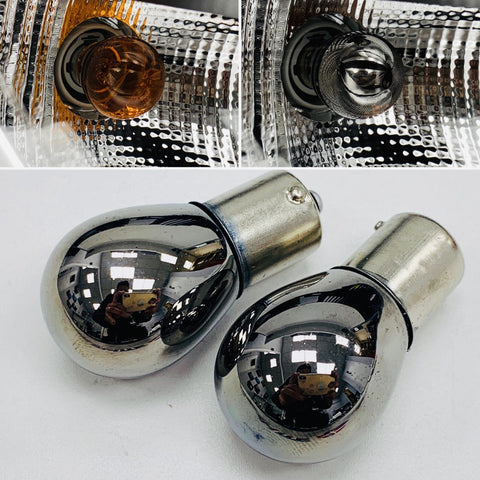 Chrome Indicator Bulbs (BA15S 382 opposite pins)