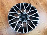 "MOMO 18"" REVENGE ALLOY WHEEL PACKAGE BLACK / POLISHED FOR T5 T5.1 T6"
