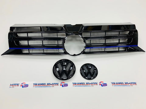 T5.1 Transporter Sportline Grille Blue Edition & Black Badges 10-15 Brand New