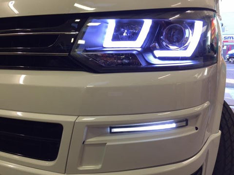 T5 Headlights & Light Bar DRL Kit 2010-2015