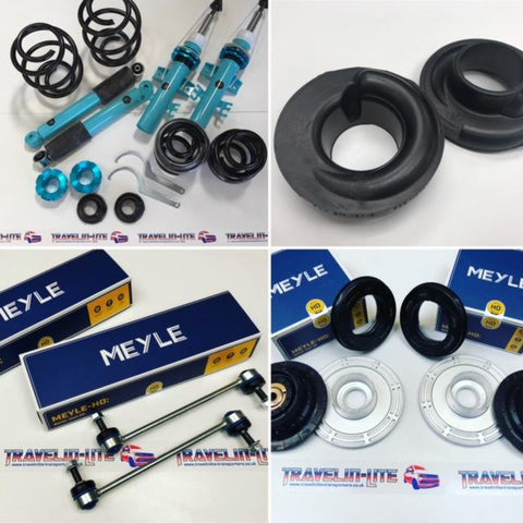 T5 T5.1 Van Slam Coilover Kit Meyle HD Top Mounts & Droplinks