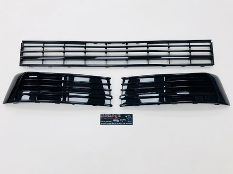 T6 Gloss Black Lower Grille With Covers & Trims 15 Onwards Brand New