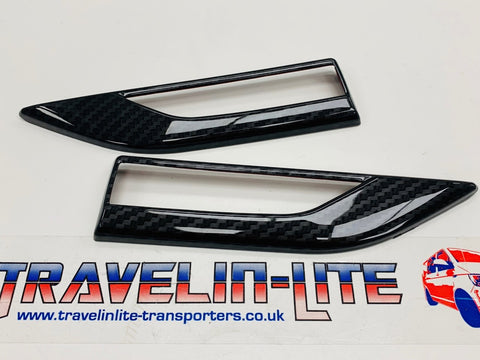 T6 Transporter Side Repeater Cover Carbon Fibre Pair 15 Onwards New